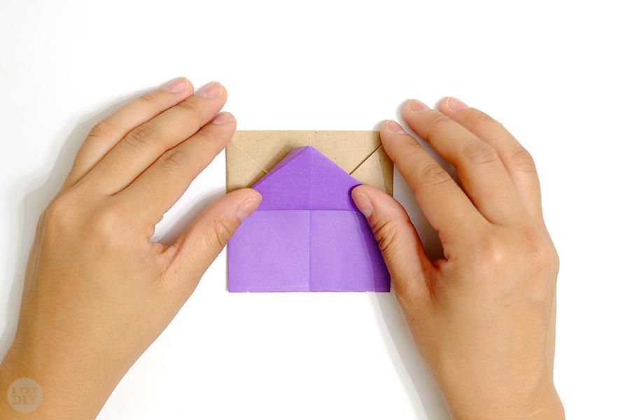 Оригами подставка для яиц-заверните вверх