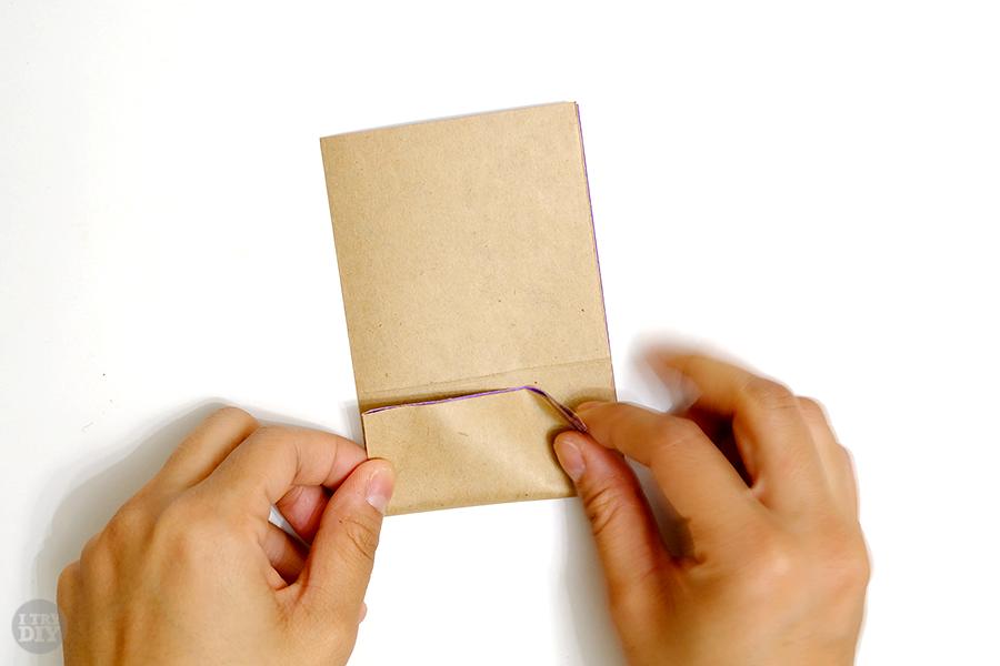 Оригами подставка для яиц-сложите к линии середины