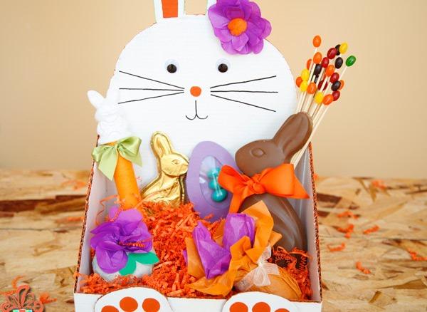 Пасхальные корзинки со сладостями