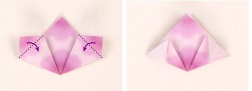 Оригами цветок