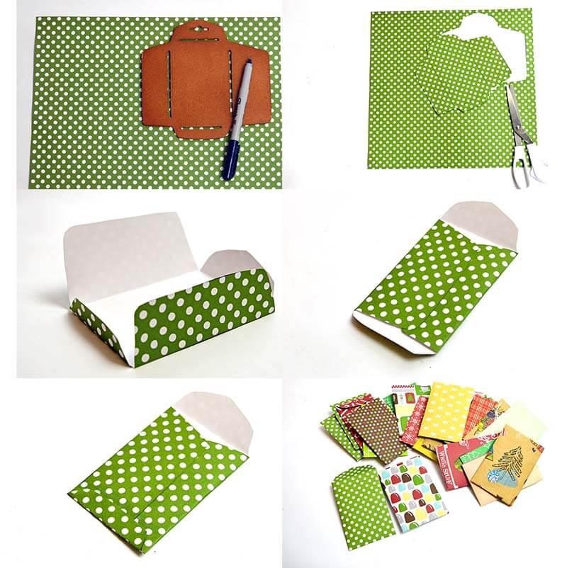 Как сделать анвент календарь из бумаги - вырежьте конверты