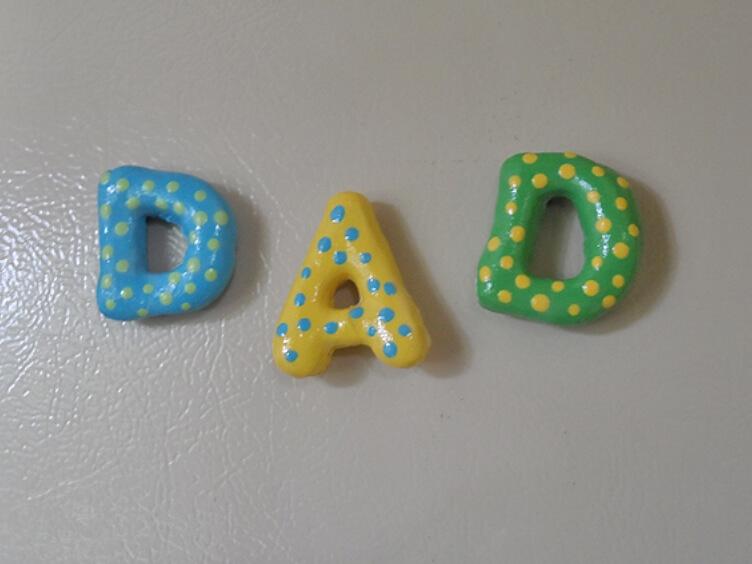Лепка из соленого теста для детей - буквы