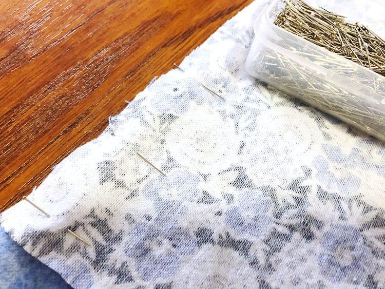 Утяжелённое одеяло - соедините все куски ткани булавками