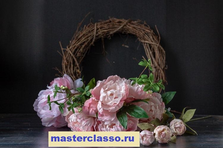 Венок из цветов - материалы