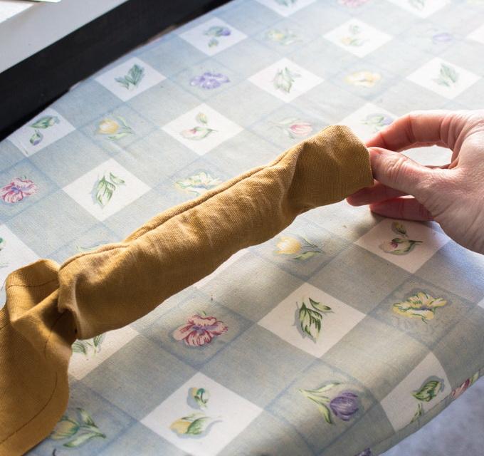 Как сшить фартук своими руками - выверните на лицевую сторону