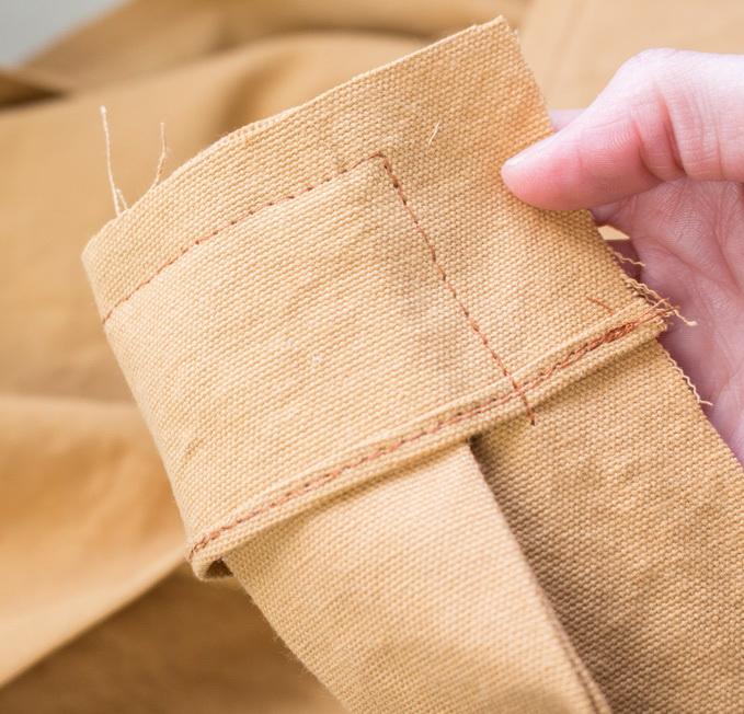 Как сшить фартук своими руками - подшейте концы облицовки