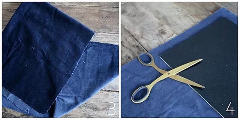 Шкатулка для украшений своими руками - подготовьте ткань
