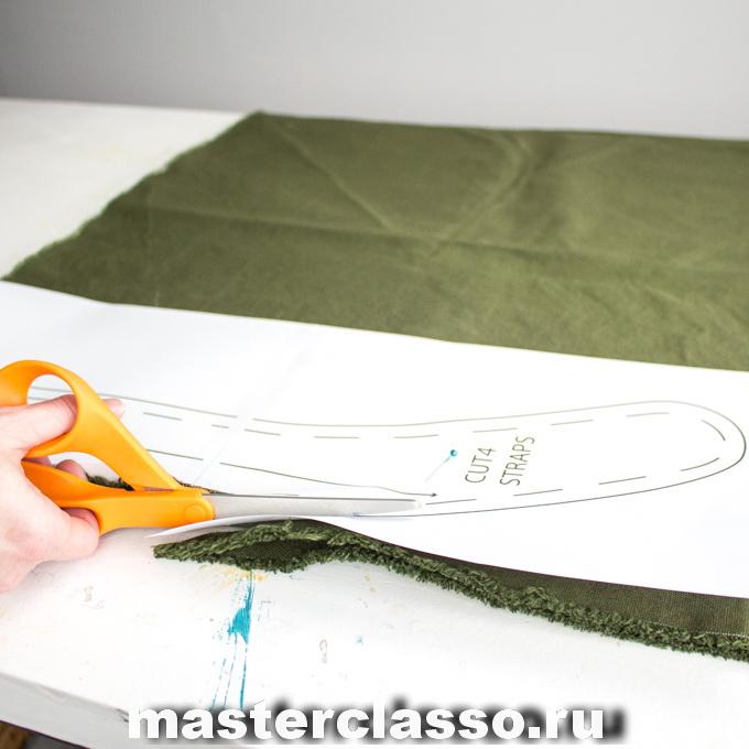 Как сшить рюкзак - вырежьте детали из ткани