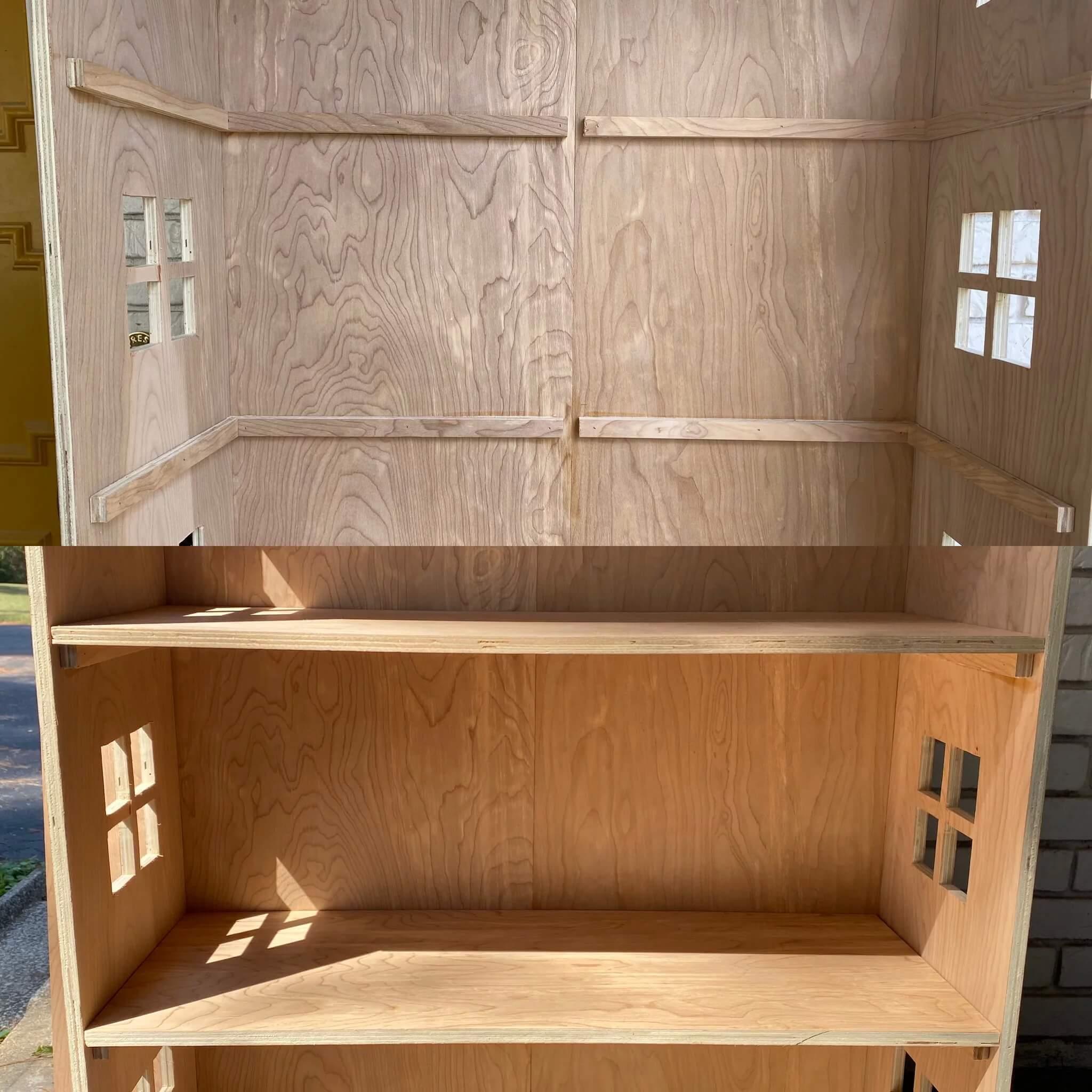 Домик для кукол из фанеры своими руками - сделайте опоры и этажи