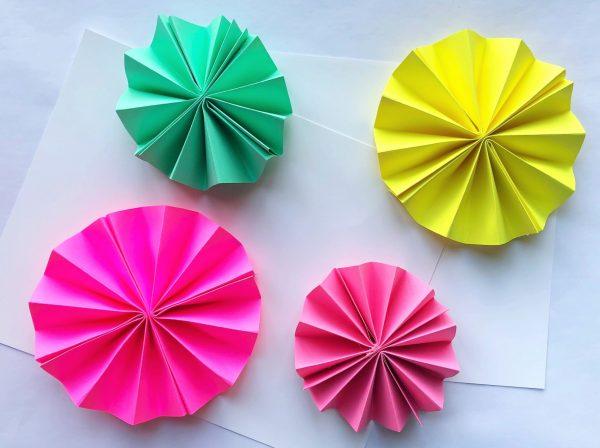 Елочные украшения из бумаги своими руками - сделайте несколько розеток