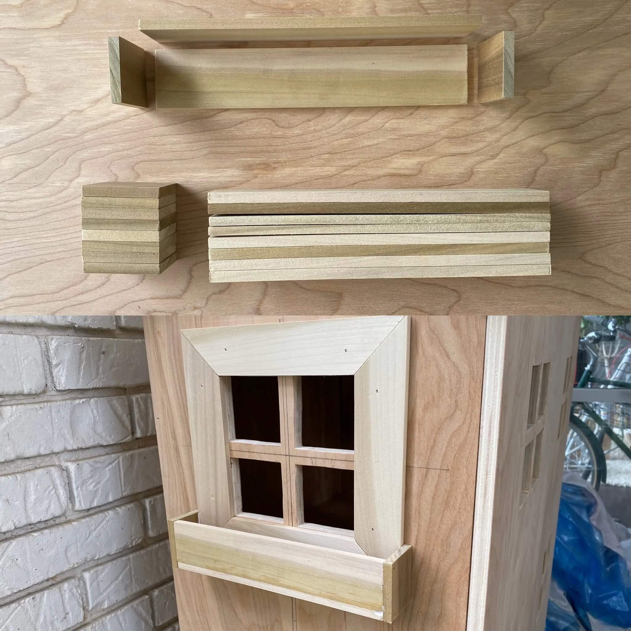 Домик для кукол из фанеры своими руками - сделайте балкончики