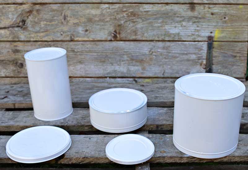 Коробка для хранения вещей своими руками - покрасьте банки в белый цвет