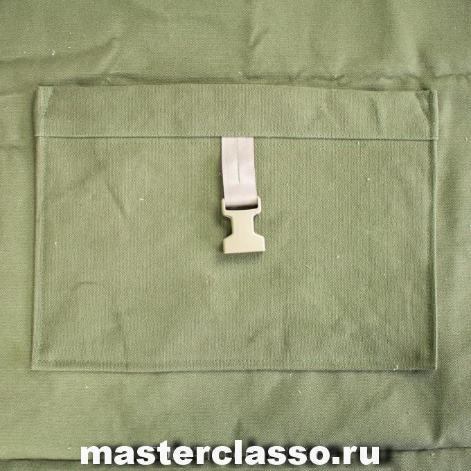 Как сшить рюкзак - пришейте карман к панели